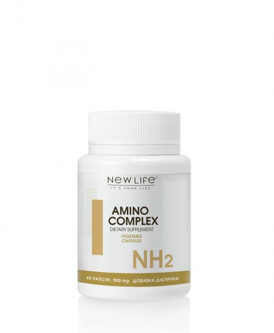 AMINO COMPLEX | АМІНО КОМПЛЕКС | 60 рослинних капсул у баночці