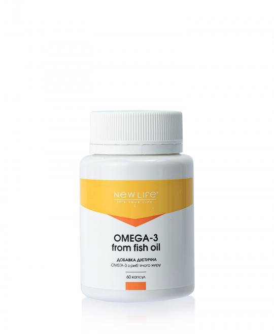 OMEGA-3 FROM FISH OIL   ОМЕГА-3 ИЗ РЫБЬЕГО ЖИРА   60 КАПСУЛ В БАНОЧКЕ